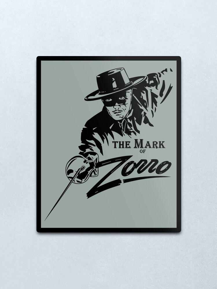Alternate view of The Mark of Zorro Metal Print