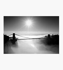 Clouds under the Clifton Suspension Bridge, Bristol Photographic Print
