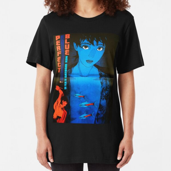 Perfect Blue Poster Slim Fit T-Shirt