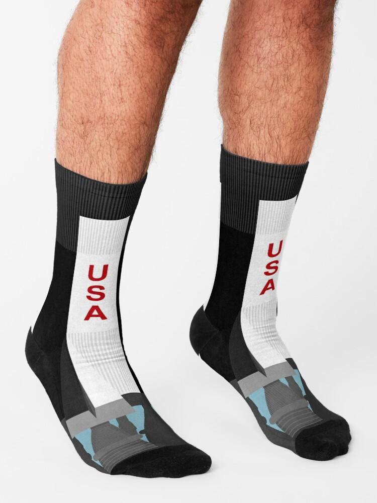 Alternate view of Saturn V socks (500F) Socks