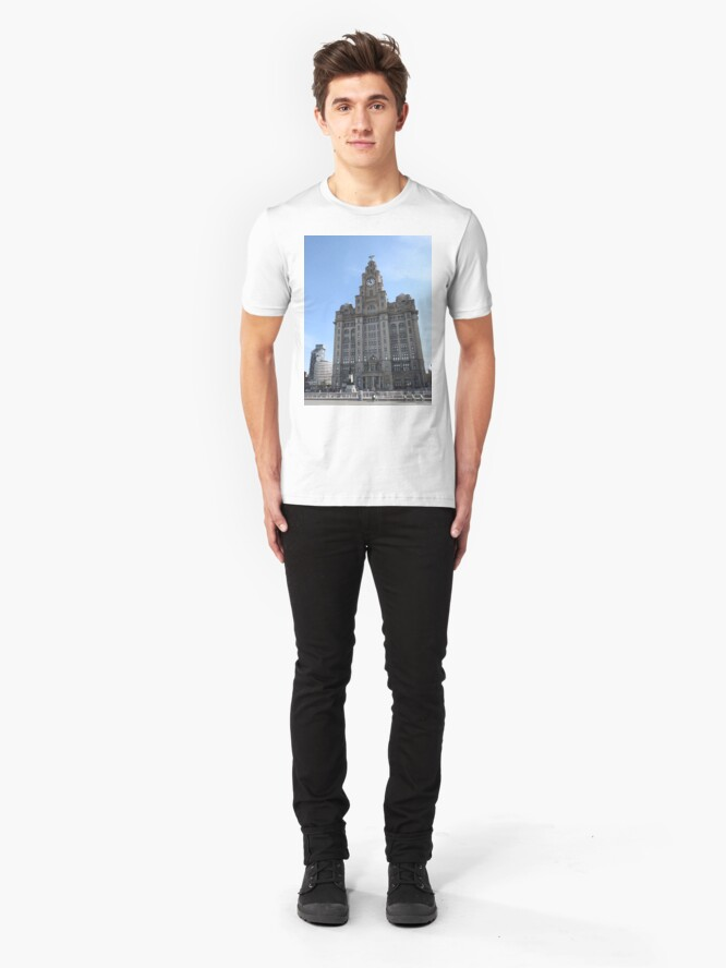 Alternate view of Liverpool Liver Building Photo Slim Fit T-Shirt