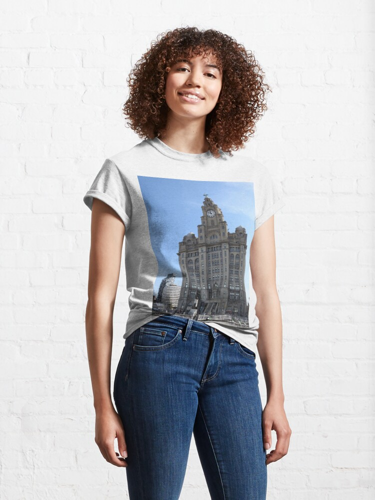 Alternate view of Liverpool Liver Building Photo Classic T-Shirt