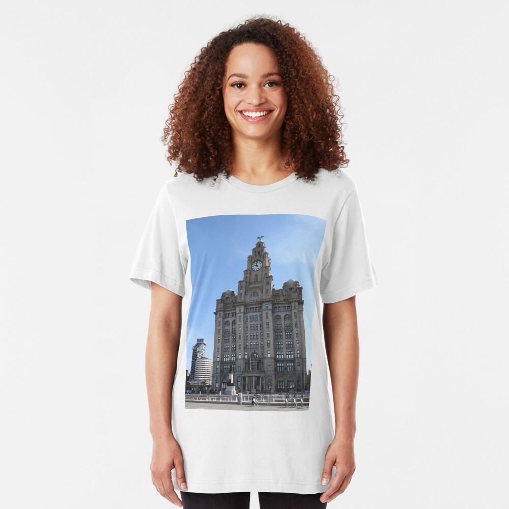 Liverpool Liver Building Photo Slim Fit T-Shirt