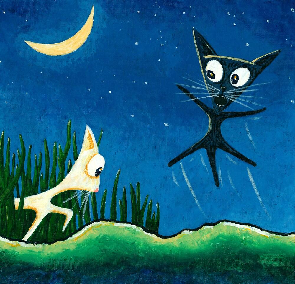 Black Cat, White Cat - Panel 2 by RedLlama