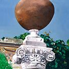 """""""Roman Column"""" - oil painting of a Roman column by James  Knowles"""