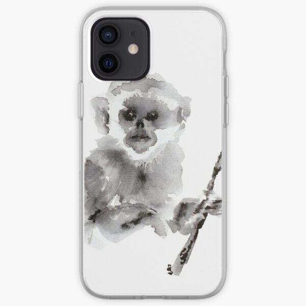 Ink Baby Snub Nosed Monkey iPhone Soft Case