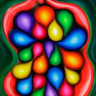 """""""Tooty Fruity"""" - colorful abstract expressionistic oil painting by James  Knowles"""
