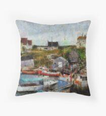 Nova Scotia Peggy's Cove Throw Pillow