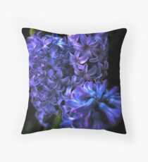 Blue Hyacinth Throw Pillow