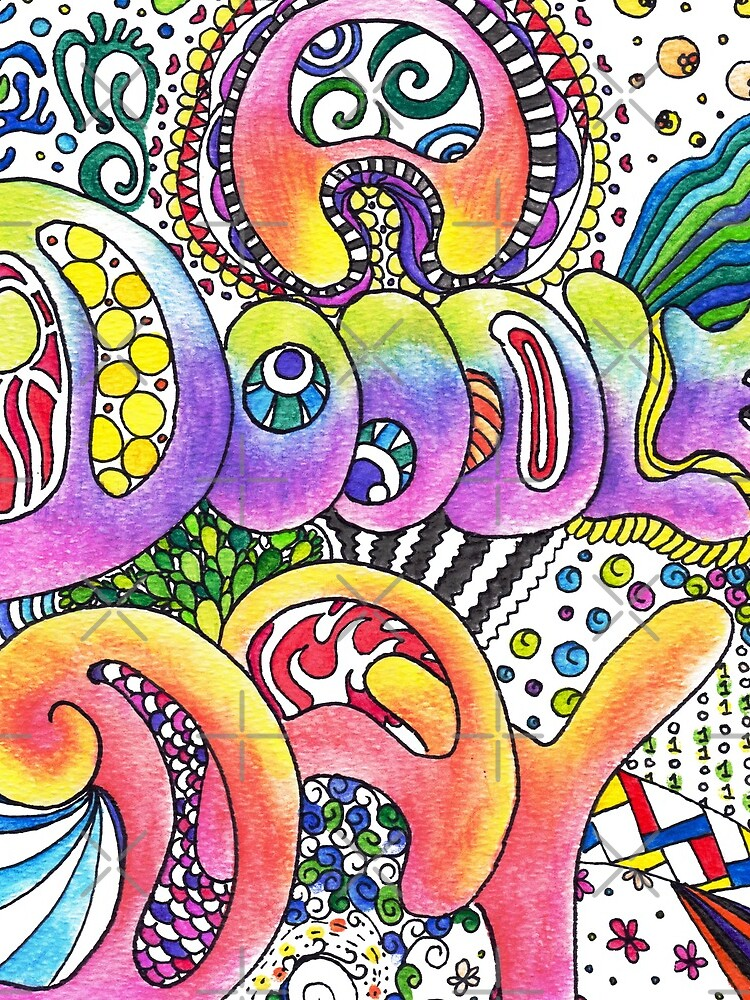 A Doodle Day Words   Trippy Free Spirit Hippy by Art-by-ANS