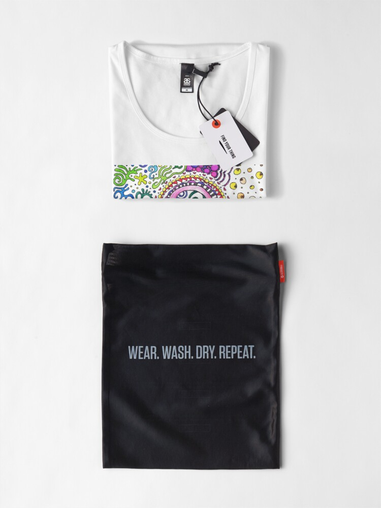 Alternate view of A Doodle Day Words   Trippy Free Spirit Hippy Premium Scoop T-Shirt
