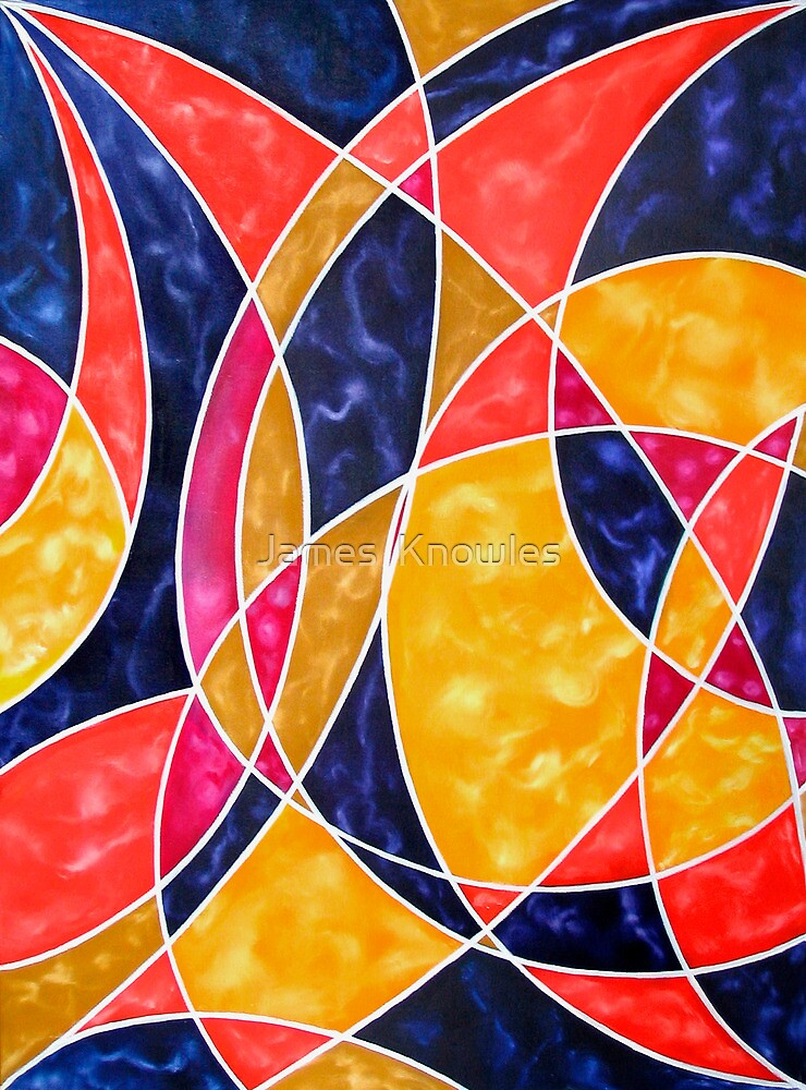 """""""""""Moon Dance"""" - colourful geometric abstract oil painting ..."""