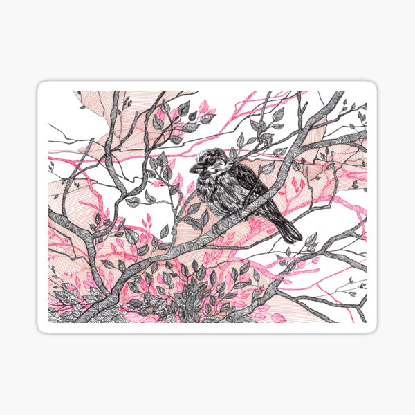 If a bird flew ... - bird on branch - faith and truth Sticker