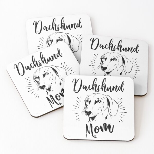 Dachshund Mom Coasters (Set of 4)