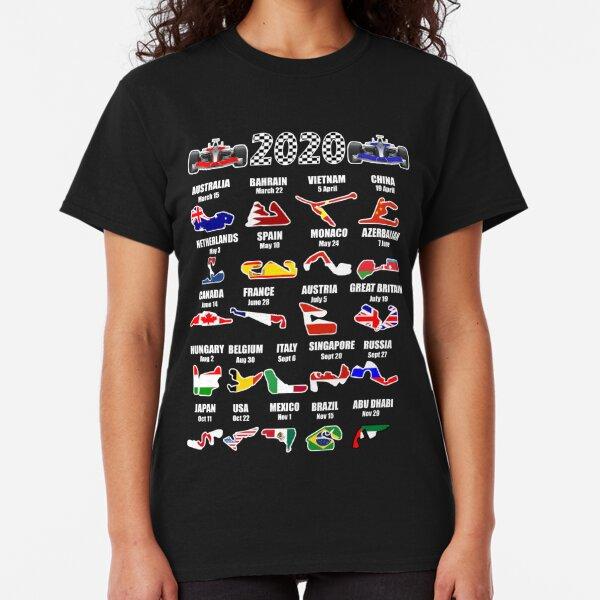 2020 F1 Motor Racing Calendar Classic T-Shirt