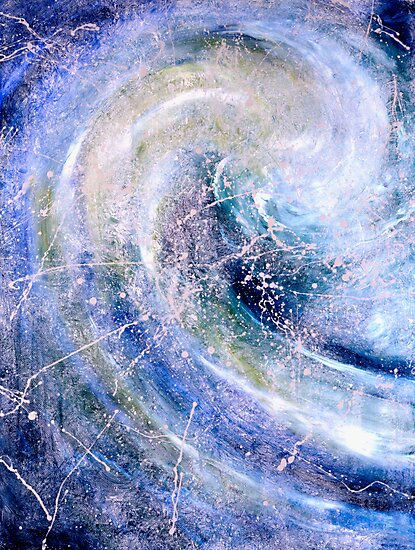 """""""Ocean Two""""- abstract oil painting impression of the ocean by James  Knowles"""