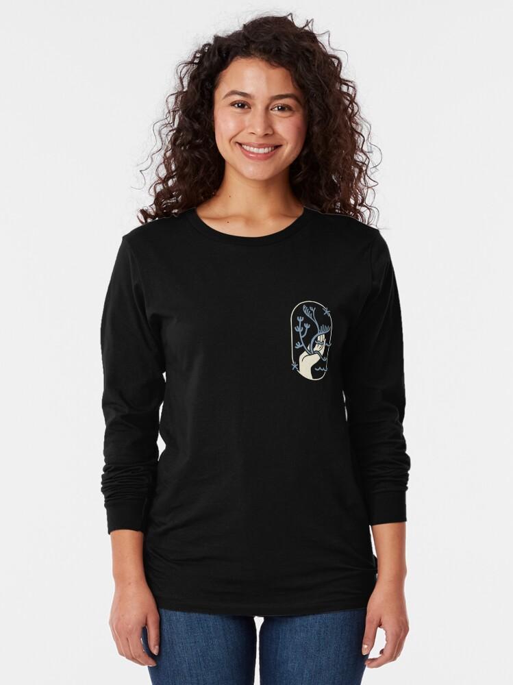 Vista alternativa de Camiseta de manga larga protegiendo los océanos