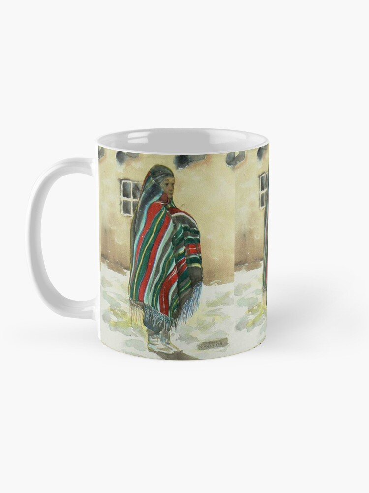 Alternate view of First snow on the Pueblo Mug