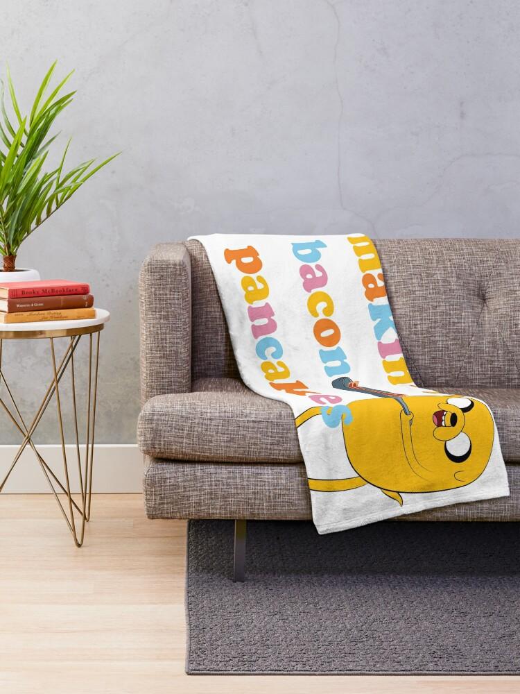 "Alternate view of Adventure Time™ ""Makin' Bacon Pancakes"" Throw Blanket"