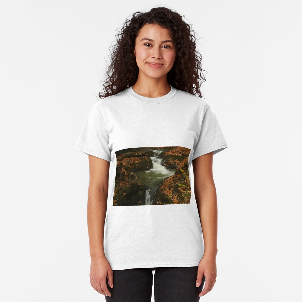 The Beauty of Water ~ Leafy Waterfall  Classic T-Shirt