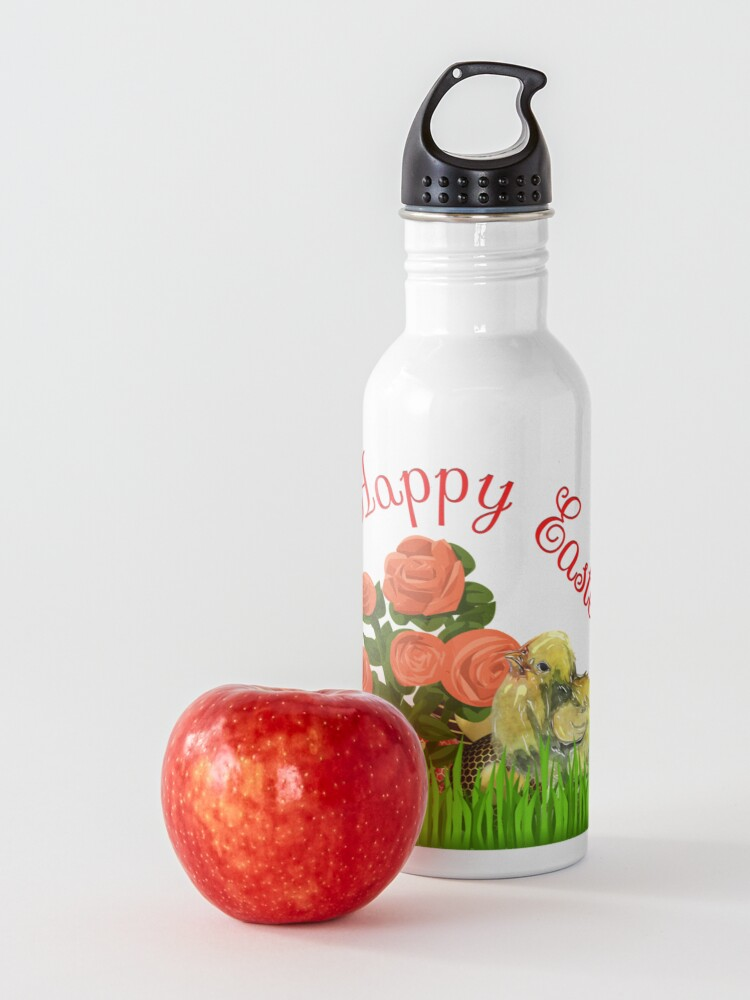 Alternate view of Happy Easter Chick and Eggs Water Bottle