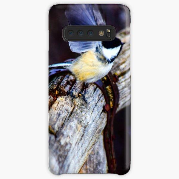 Chickadee lifting off. Samsung Galaxy Snap Case