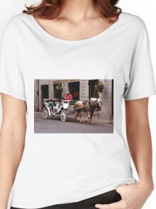 Horse Drawn Carriage - Montreal Women's Relaxed Fit T-Shirt