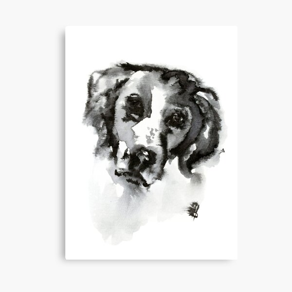 Ink Spaniel Canvas Print