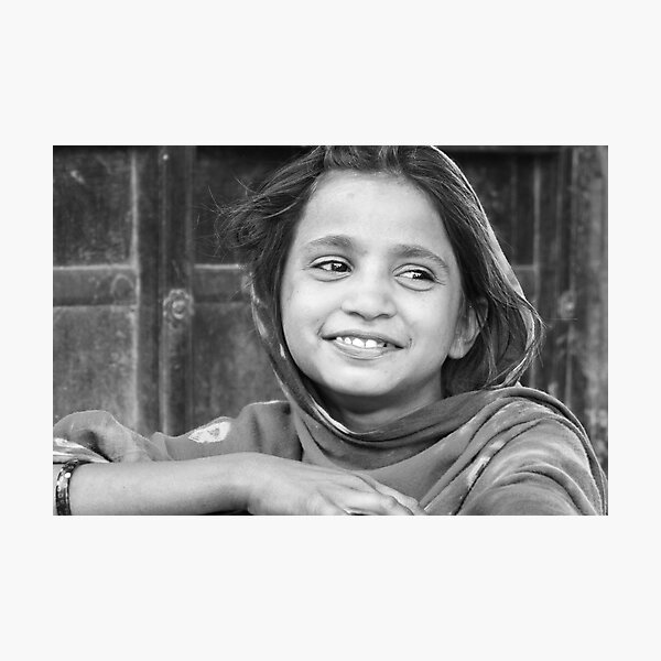 village girl in Rajasthan Photographic Print