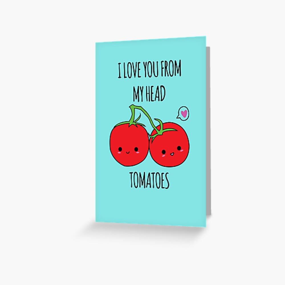 Ich liebe dich von meinen Haupttomaten Grußkarte