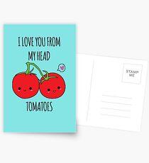 Ich liebe dich von meinen Haupttomaten Postkarten