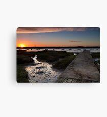 Sunset - Mersea Island Jetty Canvas Print