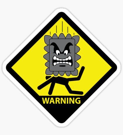 Crushing Hazard sign Sticker