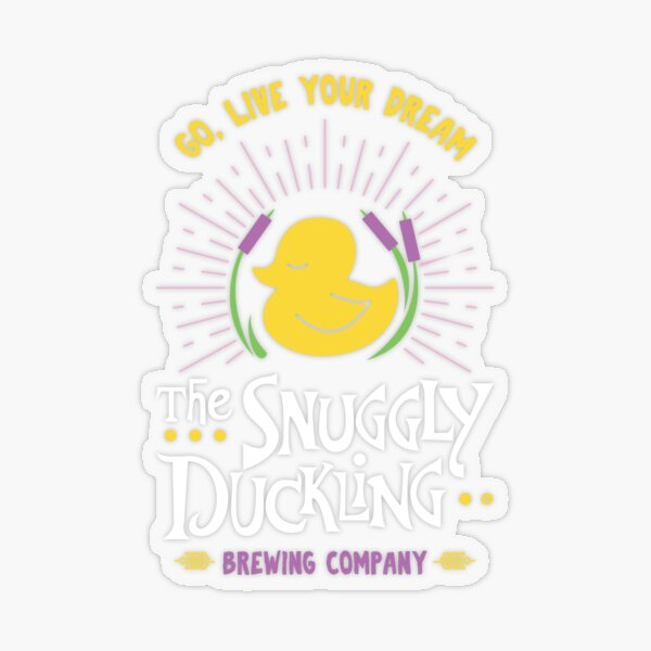 Snuggly Duckling Brewing Company - Tangled Transparent Sticker