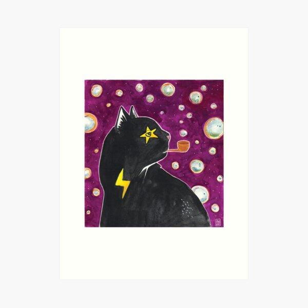 Bubble Wizard Cat Art Print
