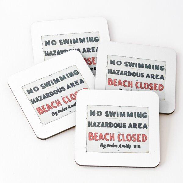 Beach closed  Coasters (Set of 4)