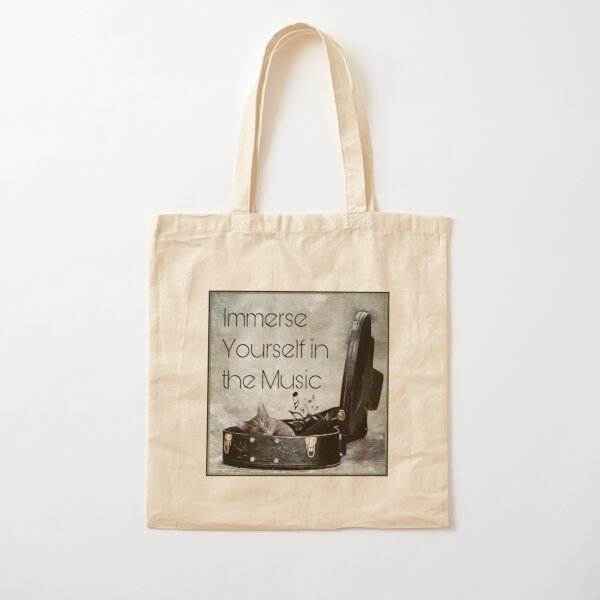 Milonga Cat - Immerse Yourself in the Music Cotton Tote Bag