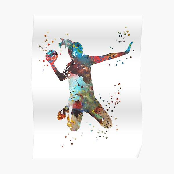 Handball fille Poster