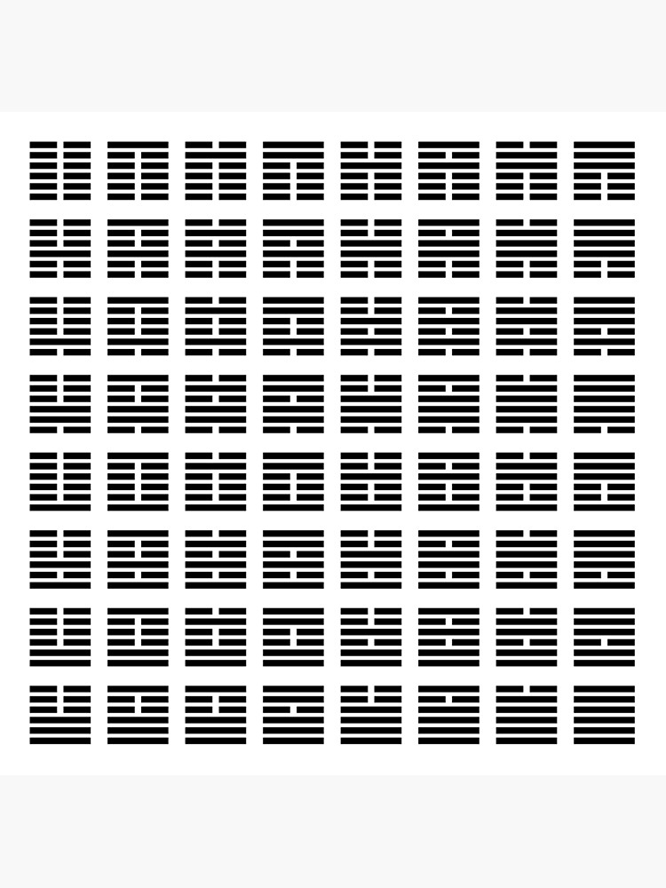 I Ching hexagrams by rupertrussell