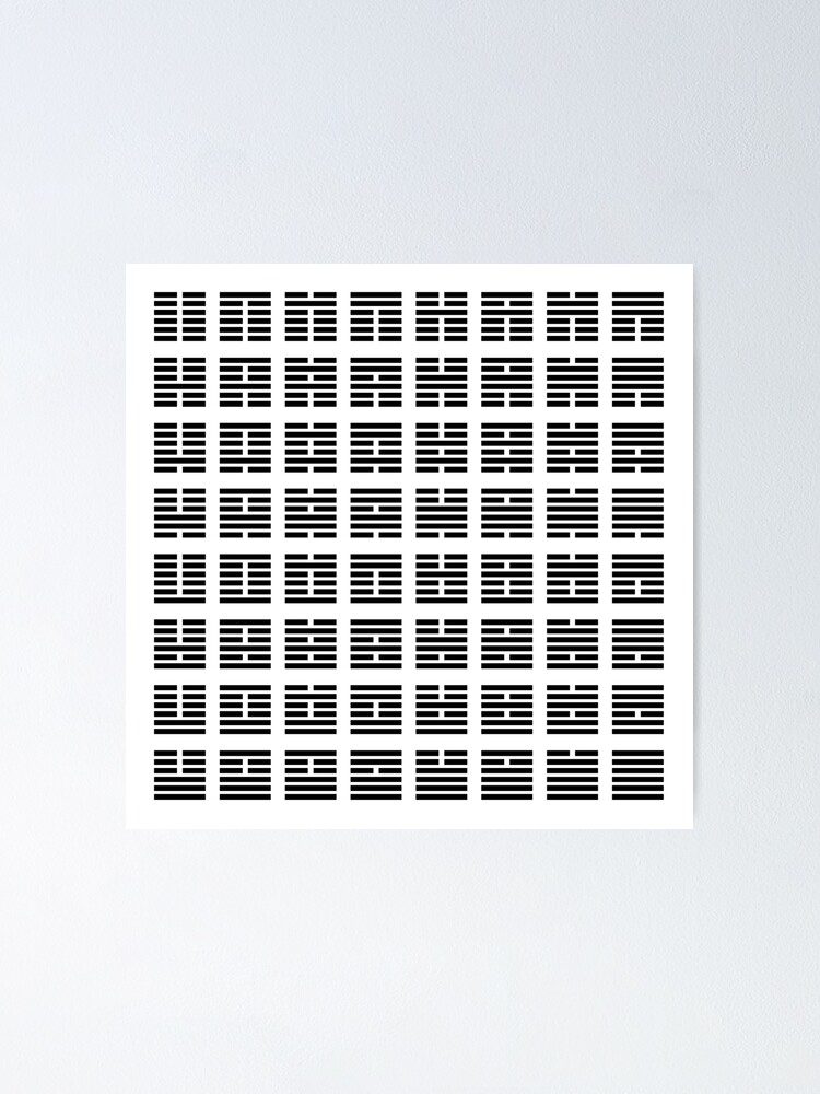 Alternate view of I Ching hexagrams Poster