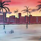 Sunset on South Beach by Ron Griggs