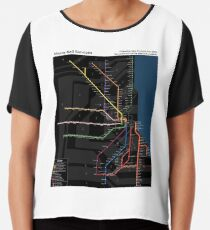 Metra System Map (Advanced) Chiffon Top