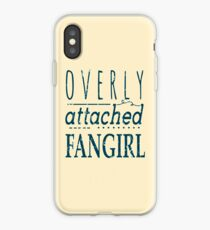 Vinilo o funda para iPhone overly attached fangirl #blue