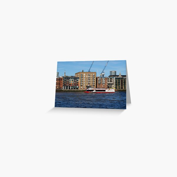 Boat ride on River Thames Greeting Card