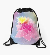 Stars and Hexagons Drawstring Bag