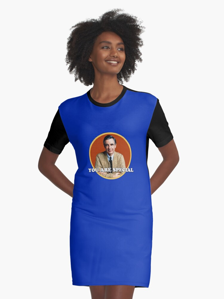 Mr Rogers You Are Special Sticker Graphic T Shirt Dress By Holidays4you Redbubble