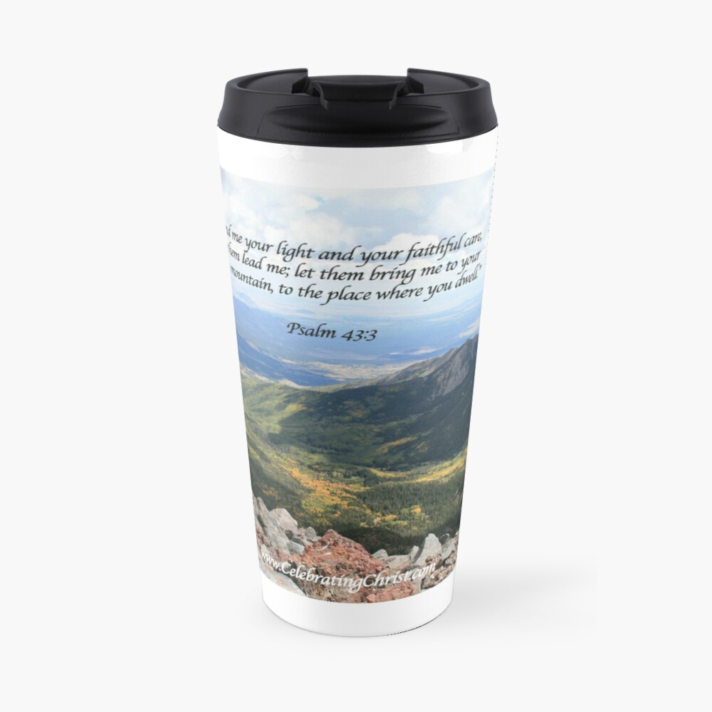 Celebrating Christ Summit Story Mug with Psalm - From ccnow.info Travel Mug