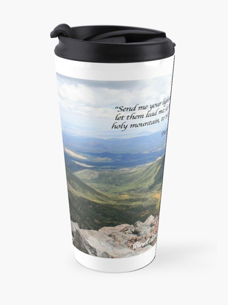 Alternate view of Celebrating Christ Summit Story Mug with Psalm - From ccnow.info Travel Mug
