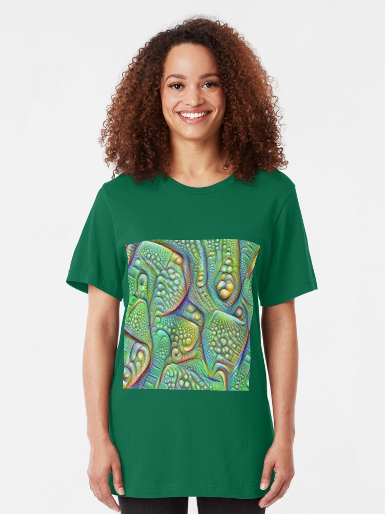 Alternate view of Abstraction #DeepDream Slim Fit T-Shirt