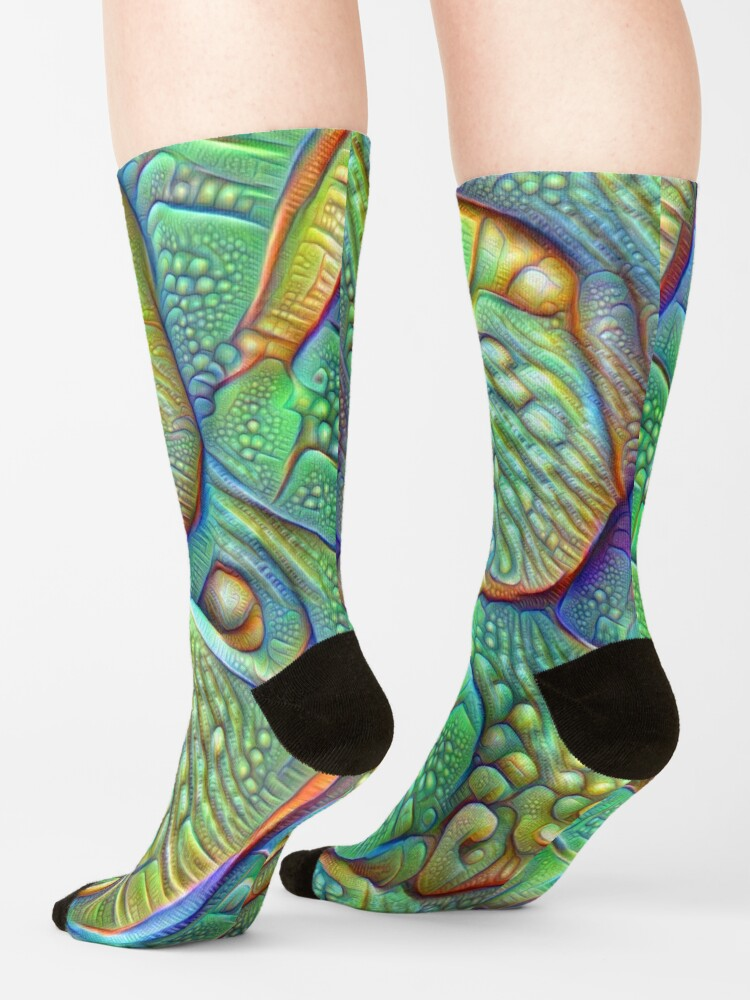 Alternate view of Abstraction #DeepDream Socks